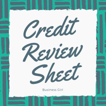 Credit Review Sheet