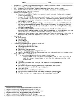 Credit Study Guide