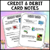 Credit and Debit cards notes
