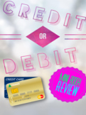 Credit Card or Debit Card Review Mini Book PowerPoint less