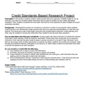 Credit standards-based research project packet