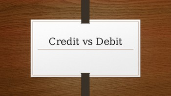 Credit vs Debit