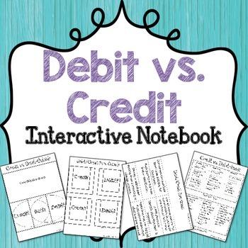 Credit vs. Debit Interactive Notebook