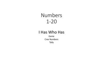 Cree Numbers I Has.. Who Has