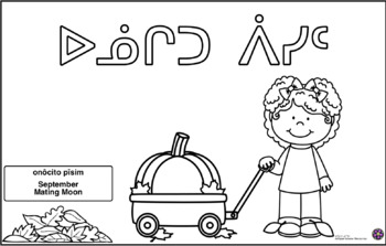 Cree Y Dialect Months Coloring Pages