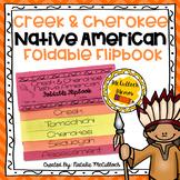 Creek & Cherokee Native American Foldable Flipbook
