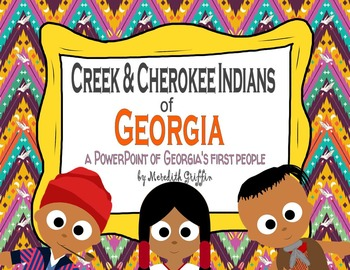 Creek & Cherokee Of Georgia Informational PowerPoint 2nd Grade