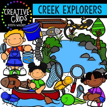 Creek Explorers {Creative Clips Digital Clipart}