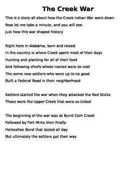 Creek War Song