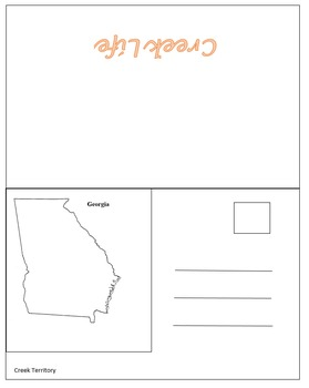 Creek and Cherokee Culture Postcard Foldables