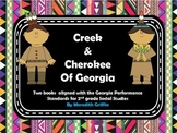 Creek and Cherokee Indians of Georgia Interactive Review Books