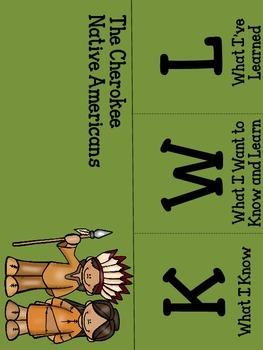 Creek and Cherokee KWL foldables