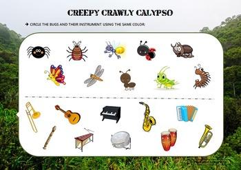Creepy Crawly Calypso (Barefoot Books) worksheet