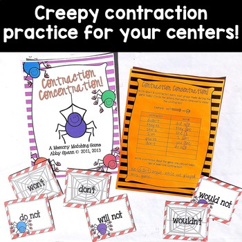 Creepy Contractions {Activity Pack}