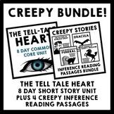 Creepy Bundle {Tell Tale Heart Short Story Unit + 4 Infere