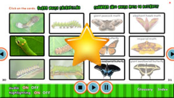 Creepy But Cool Caterpillars flip e-book