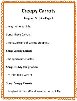 Creepy Carrots: A Music Program for Speakers, Voice, and Orff Instruments