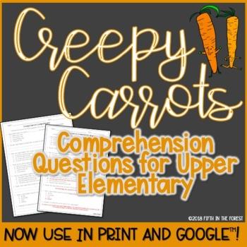 Creepy Carrots Comprehension Questions FREEBIE