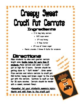 Creepy Carrots Cooking With Your Class