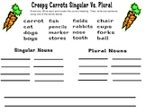 Creepy Carrots - Singular Vs. Plural Nouns