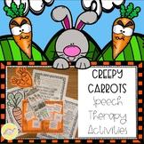 Creepy Carrots Speech Therapy Activities NO PREP