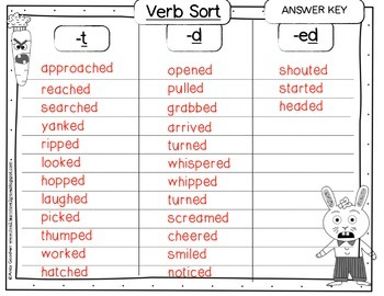 Creepy Carrots Verb  Freebie