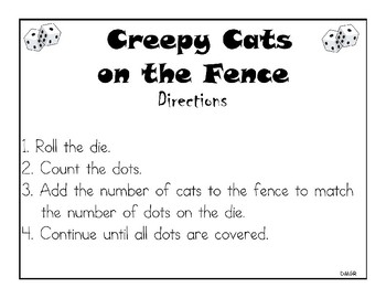 Creepy Cats: Differentiated Math Station Games