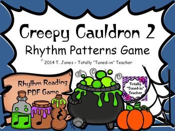 Creepy Cauldron 2 Rhythm Patterns Game - Quarter Rest Set