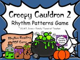 Creepy Cauldron 2 Rhythm Patterns Game - Quarter Rest Set