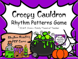 Creepy Cauldron 1 Rhythm Patterns Game - Quarter and Eighth Notes Edition