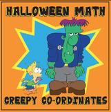 Creepy Co-ordinates Math Sheet, ideal for Halloween