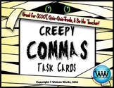 Creepy Commas Task Cards