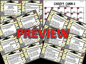 Creepy Commas Task Cards ~ QR Code Version