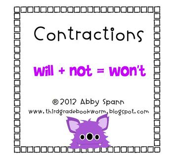 Creepy Contractions Flipchart