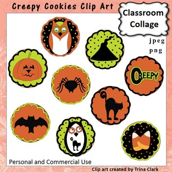 Creepy Cookies - Color - personal & commercial use