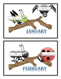 Creepy Crawler Bug Birthday Charts