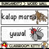 Creepy Crawlers Word Wall : Bunganditj