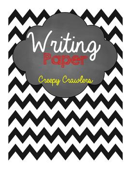 Creepy Crawlers Writing Paper