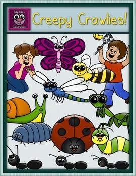 Creepy Crawlies Clip Art - Pilly Pack