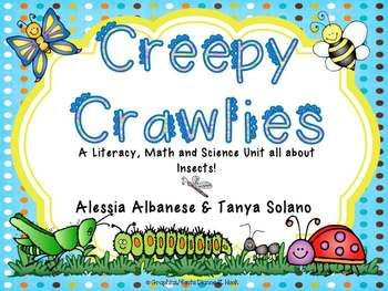 Creepy Crawlies - Literacy, Math and Science Activities al