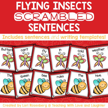 Flying Insects Scrambled Sentences