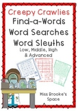Creepy Crawlies Word Search Set