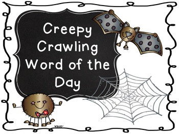 Creepy Crawling Word of the Day