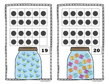 Creepy Crawly 10 Frame Counting Mats Bundle Set (1-20)