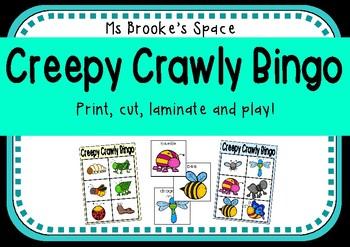 Creepy Crawly Bingo