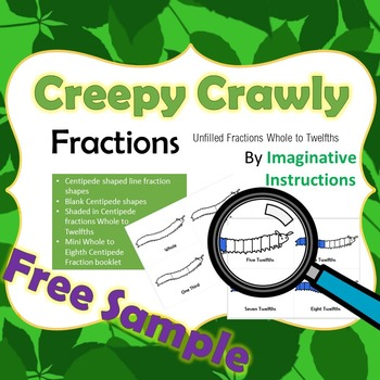 Creepy Crawly Fractions Preview