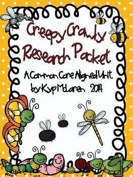 Creepy Crawly Research Packet - Common Core Aligned