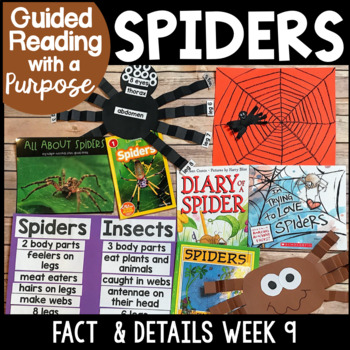 Spiders Guided Reading with a Purpose Facts & Details