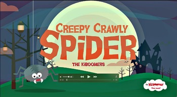 Creepy Crawly Spider Halloween Music Video for Kids