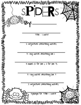 Creepy, Crawly Spider Poems